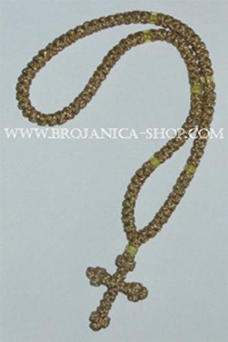 O132 Ogrlica pletena zlatna