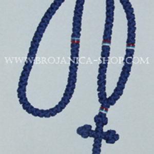O135 Ogrlica pletena plava