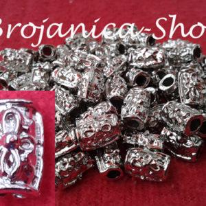 Perle metalne duže u srebrnoj boji – Burence