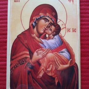 Ikona Presvete Bogorodice na drvetu