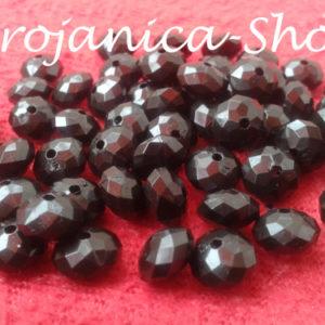 Perle za Brojanice u obliku kristala crne boje
