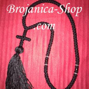 Ogrlica pletena crna sa kićankom