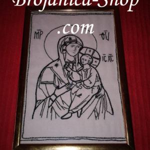 Ikona Presvete Bogorodice u vezu