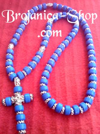 O206 Ogrlica od plavih perli
