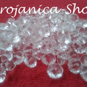 Perle za Brojanice u obliku kristala prozirne