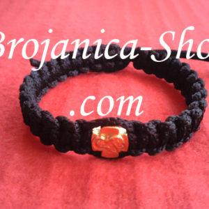 Narukvica pletena crna
