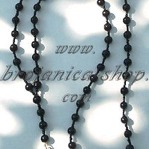 O343 Ogrlica biserna crna