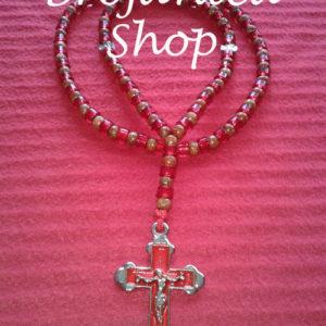 Ogrlica od drvenih i crvenih perli