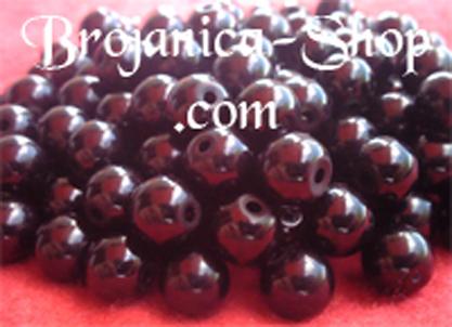M474 Biserne perle za brojanice u crnoj boji