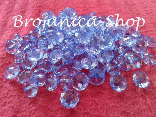 Perle za Brojanice u obliku kristala plave boje