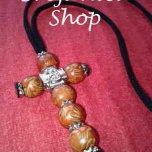 Krst od drvenih perli