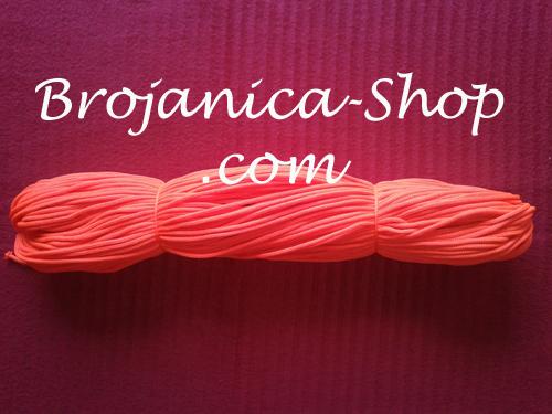 Konac za izradu Brojanica u narandžastoj fluoroscentnoj boji