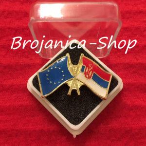 Z678 Značka za odelo zastave Srbija - EU