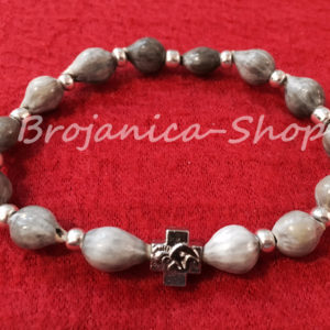 B654 Brojanica od bogorodičinih suza sa srebrnim razdelnicima