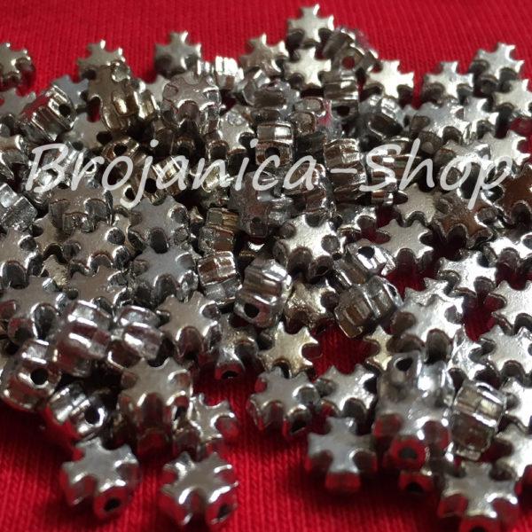 M669 Krstić metalni mali za grčke i dečije brojanice 6x6x4mm