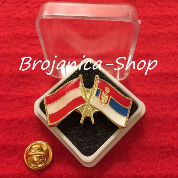 Z683 Značka zastave Srbija - Austrija u kutijici
