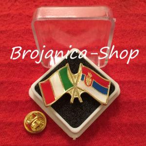 Z684 Značka zastave Srbija - Italija u kutijici