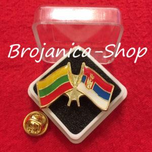 687 Značka zastave Srbija - Litvanija u kutijici