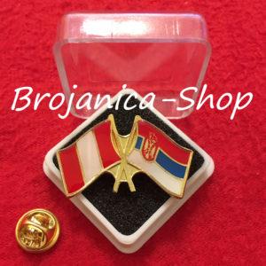 690 Značka zastave Srbija - Peru u kutijici