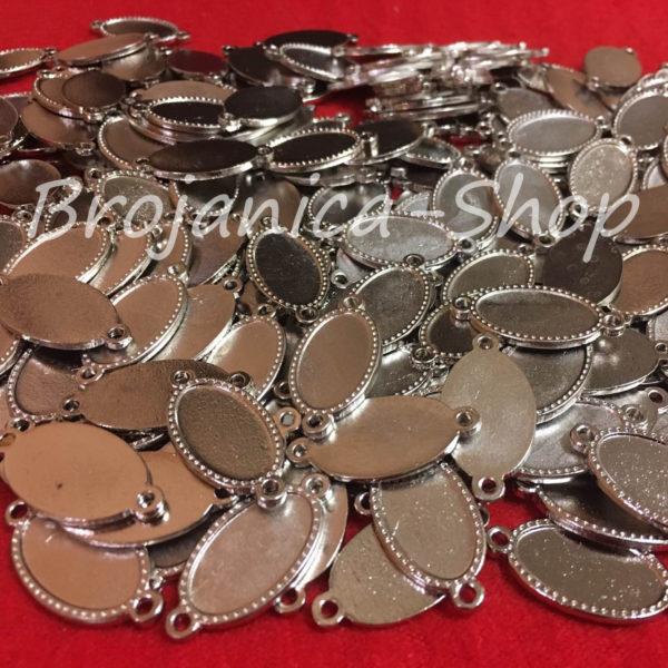 M699 Metalne osnove za izradu medaljona sa dve alke 20x10mm