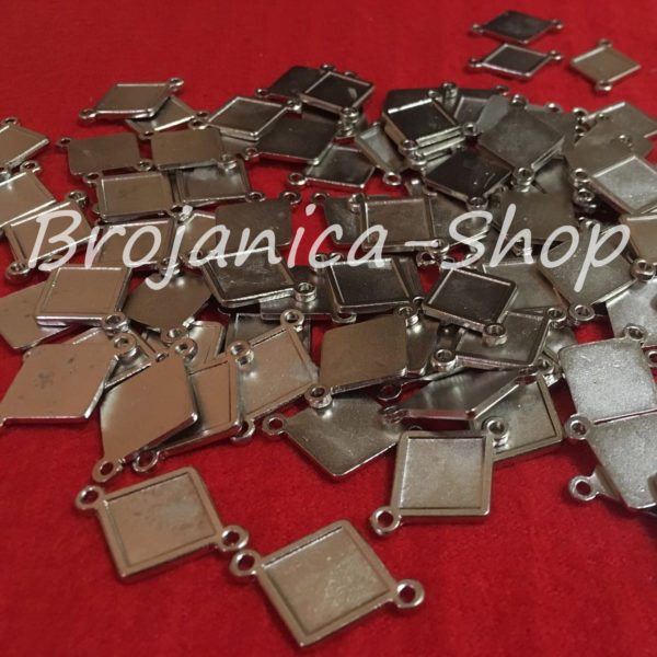M702 Metalne romboidne osnove za izradu medaljona 18mm