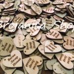 Drvena srca sa imenima po želji kupca